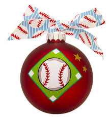 gb056 baseball glass ball christmas ornament polarx ornaments