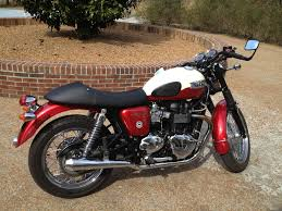 red and white custom triumph bonneville new 2012
