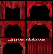 Church Curtains Electric Black Velvet Fabric Blackout Church Stage Curtain System