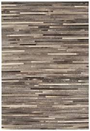 Grey Striped Rug Gaucho Stripe Rug Dark Grey