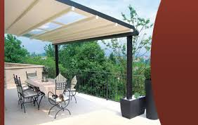 Motorized Outdoor Blinds Retractable Sun Awnings And Electric Patio Awnings