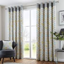 copeland geometric modern eyelet curtains grey duck egg curtain