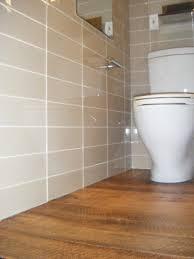 wood look tile bathroom floor wall mount chrome metal to towel