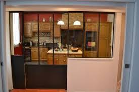 cuisine avec verriere interieur travaux de metallerie feronnerie sur mesure ou standard oise et ile