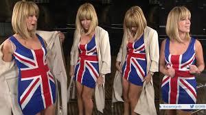 British Flag Dress Kate Garraway Union Jack Mini Dress Youtube