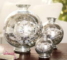 How To Make A Mercury Glass Vase Floral Etched Mercury Glass Vase Pottery Barn