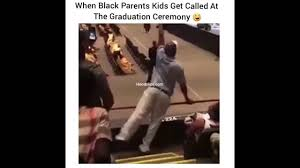 Funny Graduation Memes - when black parents kids get called at the graduation ceremony
