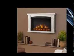 Electric Wall Fireplace Real Flame Slim Brighton Electric Wall Fireplace In White Youtube