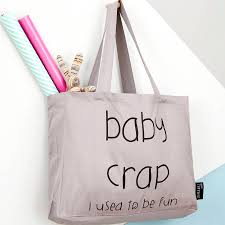 I Used To Be All - baby crap i used to be fun tote bag by lola gilbert london ltd