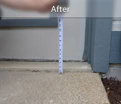 concrete driveway sinking repair concrete lifting before and after photos raising sunken concrete