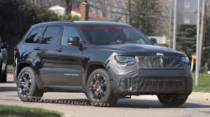 jeep trackhawk spy shots the jeep grand cherokee trackhawk gets caught in