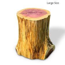 tree stump end table stand stool knaughty log co