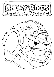 angry birds star wars coloring pages printable funycoloring