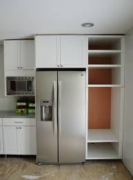 Kitchen Cabinets Refrigerator Surround inspirational kitchen cabinet fridge taste