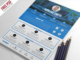 psd resume template free clean minimal and elegant premium resume