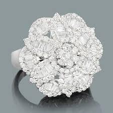 diamond cocktail rings designer diamond cocktail rings flower ring 2 43ct luccello