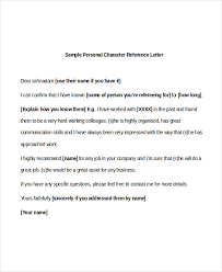 character reference lettercharacter reference letter sample