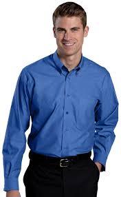 oxford dress shirt button down collar non iron tips uniforms