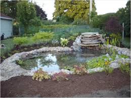 small backyard pond ideas with waterfall backyard fence ideas