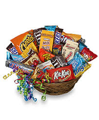 food gift baskets junk food basket gift basket in wy flowers inc