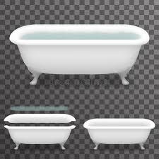 transparent bathtub retro bath with water realistic 3d parallax bathtub transparent