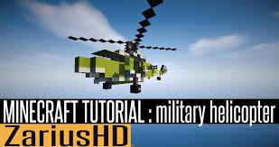 minecraft vehicle tutorial how to build military helicopter