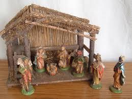 nativity sets vintage 9 nativity set painted italy italian 1940 50 s