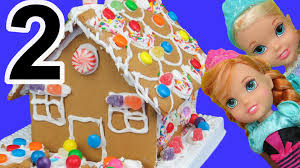 gingerbread house decorating elsa anna toddlers use candies