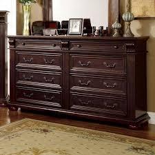 scottsdale baroque style brown cherry finish 6 piece bedroom set