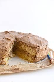 gluten free vegan yellow cake fork and beans