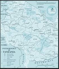 Map Of Tanzania Wall Map Of Tanzania Tanzania Wall Map Big Size Tanzania Map In