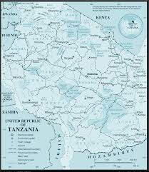 Tanzania Map Wall Map Of Tanzania Tanzania Wall Map Big Size Tanzania Map In