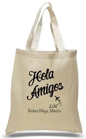personalized wedding welcome bags personalized hola amigos wedding totes customizable with your