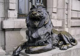 statue lions hsbc bank lion sculptures bronze lions bronze lion