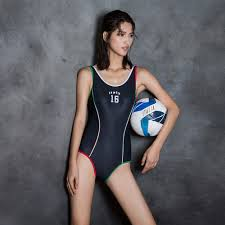 Flag One Piece Swimsuit Swimwear Racing Women 2017 Sports One Piece Bathing Suit U Shape