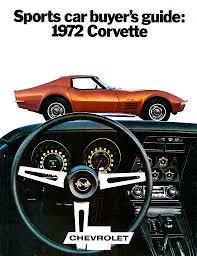corvette manufacturer 1972 corvette specs colors facts history and performance