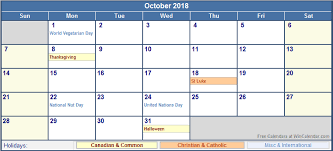 printable calendar with holidays 2018 october 2018 calendar with holidays october 2018 calendar with