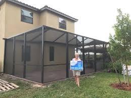 Painting Aluminum Screen Enclosures by Gulf Coast Aluminum Premier Aluminum Contractors
