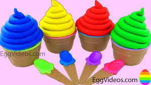 play doh ice cream learn colors finger family nursery rhymes baby