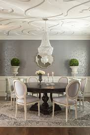 Dining Room Tables White Grey U0026 Ivory Dining Room Dark Pedestal Table White Louis Chairs