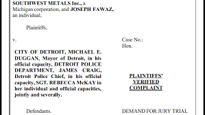 Michigan Vehicle Bill Of Sale by Detroit Scrap Metal Company U0027s Lawsuit Accuses Detroit Police