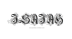 isaiah name designs name tattoos