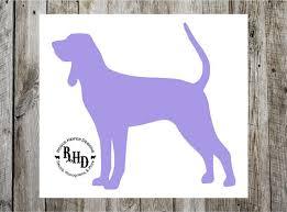 bluetick coonhound decals coonhound decal coon dog coondog bluetick black and