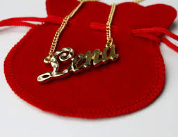 The Name Necklace 18 Karat Gold Plated Name Necklace Lena