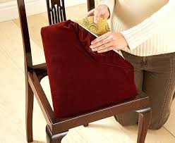 Dining Room Chair Cushion Covers Leather Dining Chair Seat Covers Captivating Fabric For