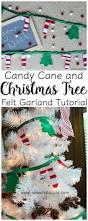 diy candy cane felt christmas garland christmas christmas