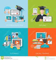 design online education online education flat stock vector illustration of graduation