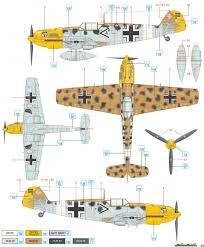 messerschmitt bf 109e 7 trop jg 27 north africa color profile and