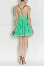 embellished mini green dress rs7451 nissa