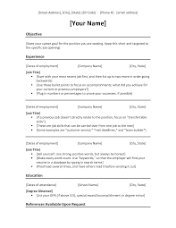 Free Chronological Resume Template Resume Chronological Resume Examples